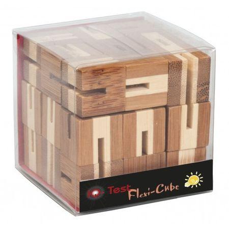 Flexi-cub - Joc logic puzzle 3D din bambus, jocuri din lemn, jocuri perspicacitate, jocuri logice, jocuri fridolin, jucarii germania, montessori, waldorf, bebelind
