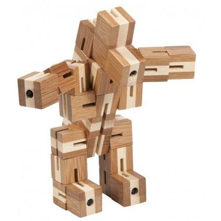 Flexi-cub - Joc logic puzzle 3D din bambus, jocuri din lemn, jocuri perspicacitate, jocuri logice, jocuri fridolin, jucarii germania, montessori, waldorf