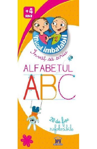 Micul imbatabil, Invat sa scriu alfabetul, scrie si sterge, alfabetul cu carioca, invata alfabetul, dph, jetoane educative