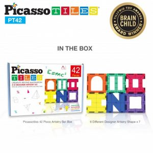 Set Picasso Tiles – 42 Piese, 6 Forme Diferite