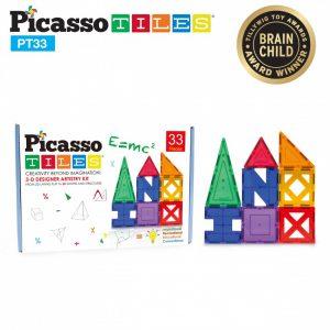 Set Picasso Tiles – 33 Piese, 9 Forme Diferite