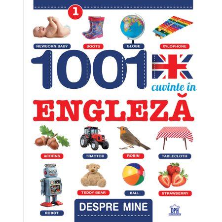 1001 Cuvinte in engleza, Despre mine, Creabooks, engleza copii, carte engleza incepatori, carte poze engleza, dph, carti educative