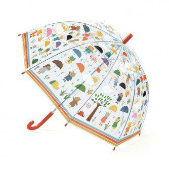 Umbrelă Djeco În ploaie, umbrela trasparenta, umbrela calitativa copii, umbrela clopot