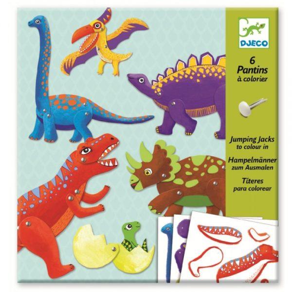 Dinozauri in miscare, Djeco, construieste dinozauri, joc educativ, joc cu dinozauri, art & craft copii