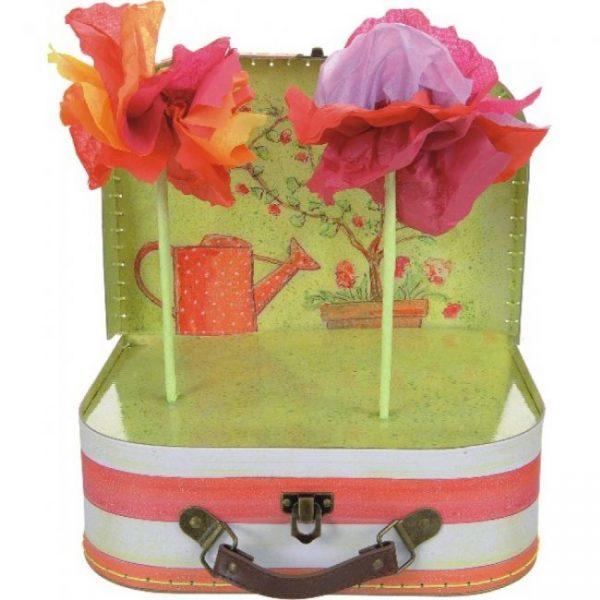 Set de creat flori din hartie de matase, egmont toys, art & craft, handmade pentru copii, set copii creare flori, flori matase