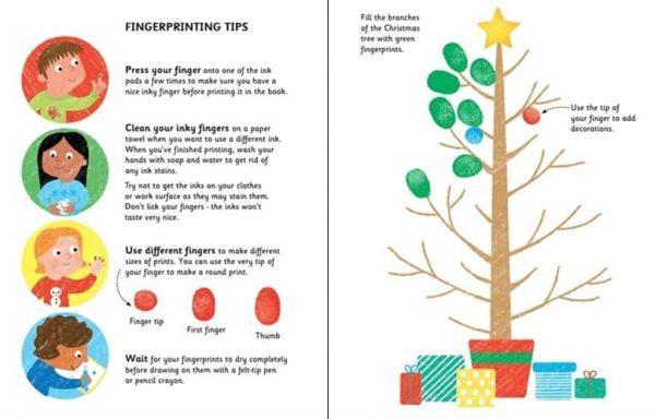 Fingerprint activities Christmas, carti usborbe, carti craciun usborne, carti activitat, carti educative, pictura cu degetele