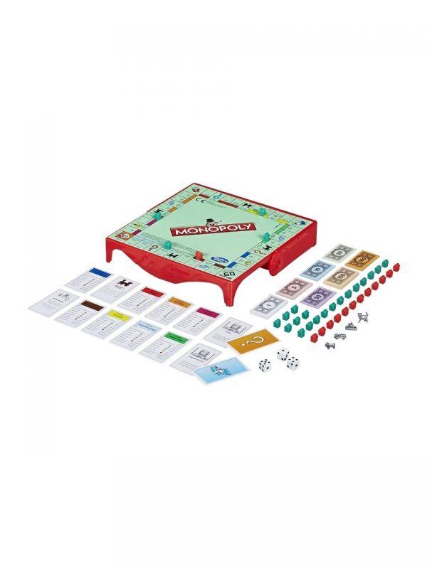 Monopoly Grab & Go, hasbro, monopoly calatorie, monopoly mini, joc de societate, jocuri calatorii
