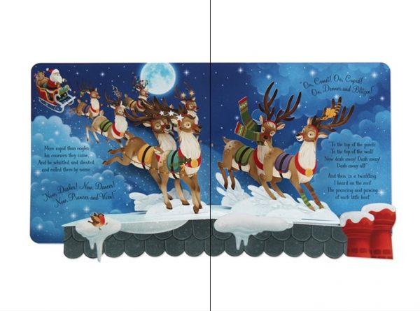 Pop-up 'Twas the Night Before Christmas - Usborne, carti usborne, carti craciun, carte pop-up, carte in relief, povesti de craciun, noaptea dinaintea craciunului
