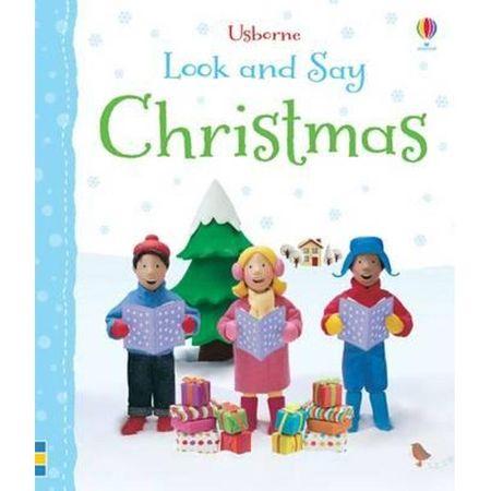 Look And Say - Christmas,Felicity Brooks, carti usborne, carti de craciun, carti craciun bebe, carti educative copii, carti reducere