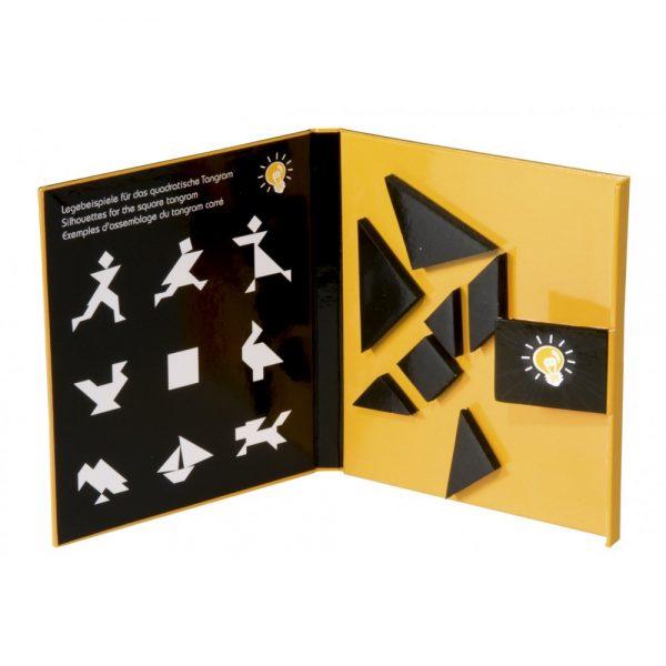 Tangram magnetic Fridolin, tangram copii, tangram tip carte, jocuri magnetice, joc educativ