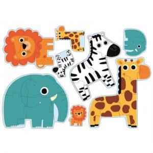 Puzzle progresiv Djeco – in jungla