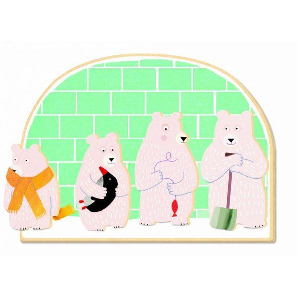 Ourso - Loto Djeco, joc cu usul, joc cu anotimpuri, jocuri lemn copii mici, joc educativ copii mici, jucarii djeco