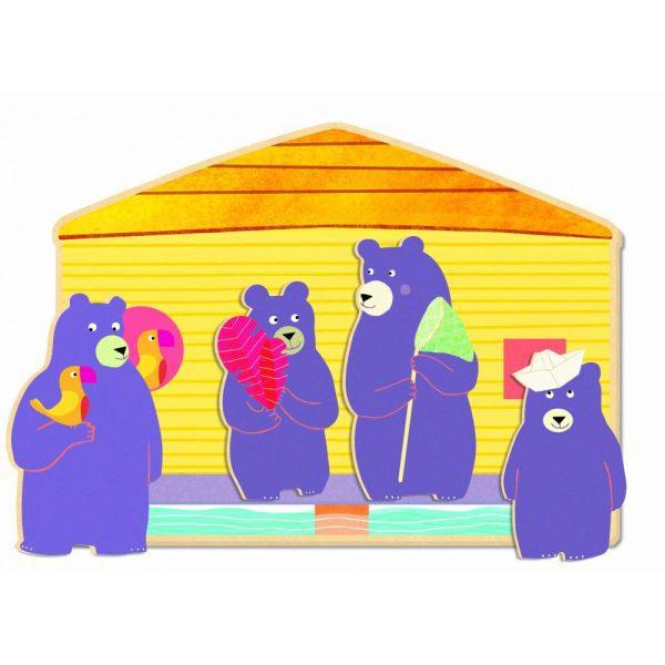 Ourso - Loto Djeco, joc cu usul, joc cu anotimpuri, jocuri lemn copii mici, joc educativ copii mici, jocuri djeco
