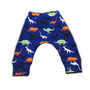 Pantaloni Harem pentru bebe si toddler – French Terry (Dino)
