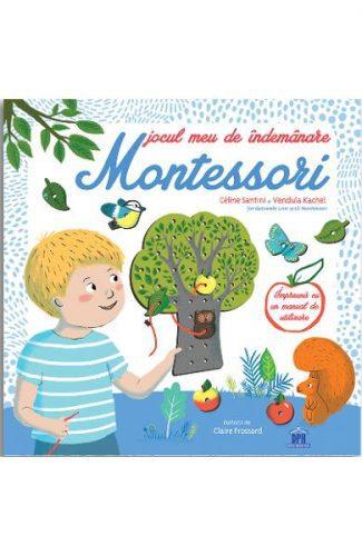 Jocul meu de indemanare Montessori - Șireturi, joc cu sireturi, carte educativa montessori, carte copac montessori