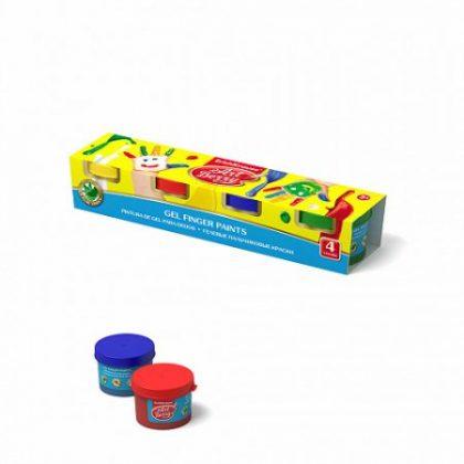 Gel Finger de la ArtBerry® cu Aloe Vera 4 culori, pictura cu degetele, vopsea fingerprint, gel fingerprint, vopsele copii, acuarele copii, acuarele cu aloe, bebelind