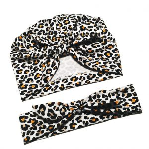 Set Turban și Bentita pentru fetite – Sweet Animal Print