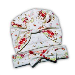 Set Turban si Bentita pentru fetite – Flower Blossom
