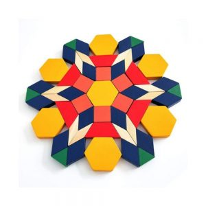 Joc Tangram din lemn 125 de piese