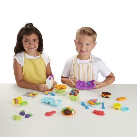Set plastelina Play-Doh - Bunatati de la supermarket, seturi plastelina play-doh, play-doh bucatarie, plastelina bucatarie, plastelia hasbro creatii, plastelina de calitate, accesorii plastelina