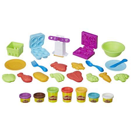 Set plastelina Play-Doh - Bunatati de la supermarket, seturi plastelina play-doh, play-doh bucatarie, plastelina bucatarie, plastelia hasbro creatii, plastelina de calitate