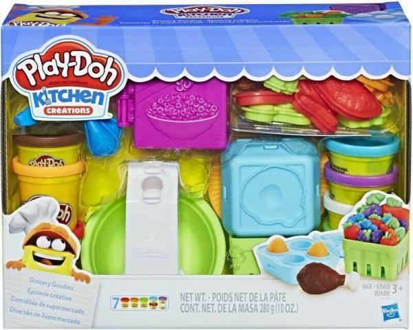 Set plastilina Play-Doh - Bunatati de la supermarket, seturi plastelina play-doh, play-doh bucatarie, plastelina bucatarie, plastelia hasbro creatii, plastelina de calitate