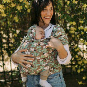 Boba Wrap Elastic Pentru Purtarea Bebelușilor - Magnolia,wrap boba, wrapuri elastice, wrap flori, wrap magnolie, sisteme de purtare bebelusi, portbebe elastic