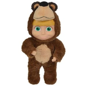 Papusa Masha and the Bear 2 in 1 Masha in costum de urs