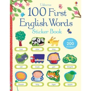 "Carte de activitati ""100 First English words sticker book"""