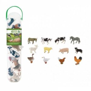 Cutie cu 12 minifigurine Animale de la Ferma