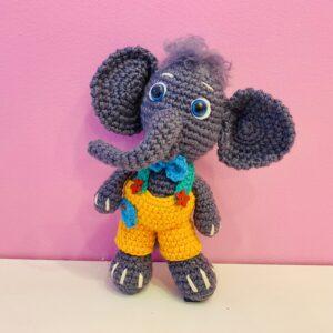 Elefantelul Curios – jucărie handmade