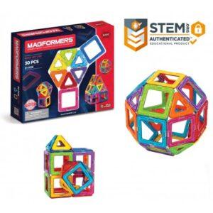 Set Magformers (30 piese) – Joc Constructie Magnetic 3D
