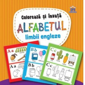 Coloreaza si invata alfabetul limbii engleze