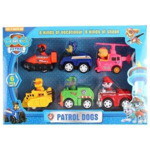 Set figurine Dogs Patrol (6 figurine cu masinute)