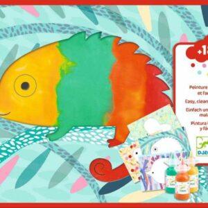 Set creativ Djeco – Bebe apasa si picteaza