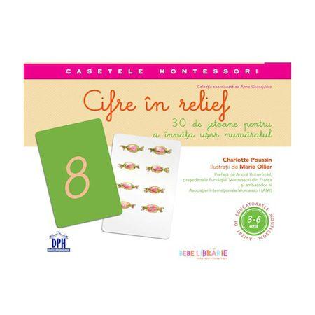 Cifre in Relief (Jetoane + Ghid de Utilizare) - Charlotte Poussin,cifre montessori, cutie cu cifre, jetoane montessori cifre, cutie montessori, Charlotte Poussin