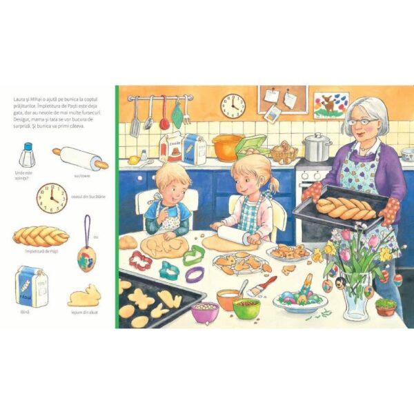 Sarbatoarea Pastelui - Cauta si gaseste, carti de paste cauta si gaseste, carte de paste, carti cartonate iepuras, carte paste copii, carti Sabine Cuno