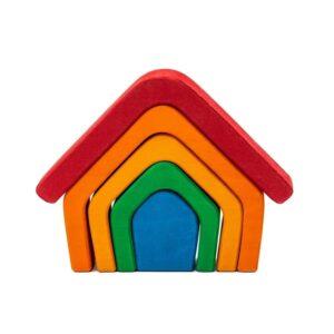 Casuta Curcubeului din lemn(Montessori/Waldorf)