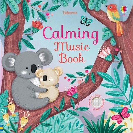 Carte cu sunete Usborne – Calming Music Book 0+